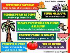Frases hechas con fruta - via FB by Spagnoleggiando