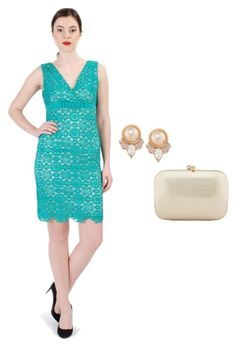 A fashion look from March 2016 featuring brown hand bags, pink pearl jewelry and turquoise green dress. Browse and shop related looks. Peplum Dress, Lace Dress, Ss16, Spring 2016, Shoe Bag, Elegant, Formal Dresses, Store, Lady
