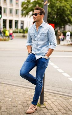 Men's Denim Shirt Inspiration