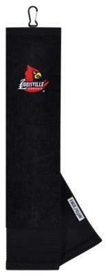 Team Effort NCAA Face/Club Embroidered Golf Towel - University of Louisville