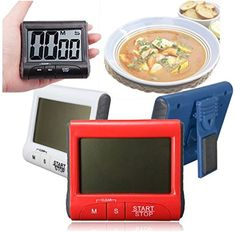 Magnet Digital Kitchen Count Down Counter Timer Beeping Alarm Clock ...