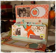 """great mini made with fabric cover so it would hold up nicely in a purse for a """"Grandma brag book"""" follow link from 1st pg to tutorial. It is instruction heavy  in French so needs translated but end book is beautiful!"""