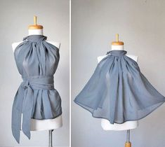 Tie-waist top - buy through this link on Etsy, or use as reference to guestimate diy
