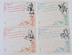 Alice in Wonderland Baby Shower Advice Cards. $6.00, via Etsy.