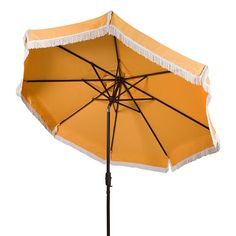 Shop for Safavieh Milan Fringe 9 Ft Crank Yellow/ White Trim Outdoor Umbrella. Get free delivery On EVERYTHING* Overstock - Your Online Garden & Patio Shop! Get in rewards with Club O!