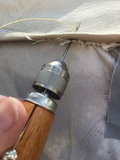 A how to guide on repairing torn canvas on your pop up camper.