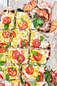 Grilled Lobster and Corn Pizza with Goat Cheese and Fresh Tomatoes   www.floatingkitchen.net
