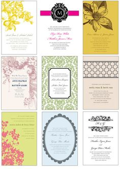 These pretties are all FREEBIES — printable invitation templates you can personalize. New templates are added each weekday. We used these for our wedding invites and my bridal shower invites. Printable Invitation Templates, Free Printables, Freebies Printable, Printable Labels, Printable Designs, Wedding Invitations, Wedding Favors, Wedding Ideas, Print Invitations
