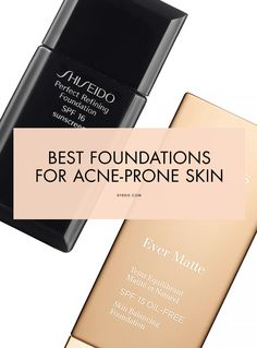 Say This Is the Best Makeup for Oily, Acne-Prone Skin The BEST foundation formulas for acne-prone skinThe BEST foundation formulas for acne-prone skin Best Primer For Acne, Best Makeup For Acne, Best Foundation For Acne, Makeup Tips For Oily Skin, Acne Makeup, Skin Makeup, Best Makeup Products, Makeup Brushes, Natural Skin Tightening