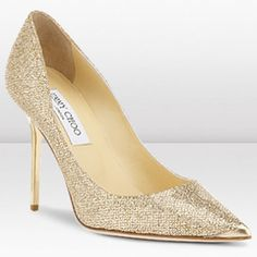 Jimmy Choo Abel 100mm Gold Glitter Fabric Pointy Toe Pumps [Jimmy Choo Shoes 439] - $129.00 : High-Heeled Shoes, Lastest High-heeled Shoes Wholesale