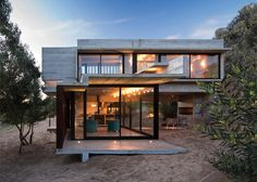 Concrete retreat situated on a sand-dune in Buenos Aires.