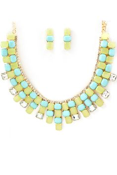 Peridot Crystal Abigail Necklace   Awesome Selection of Chic Fashion Jewelry   Emma Stine Limited