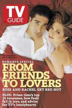 February 10, 1996 featuring Jennifer Aniston and David Schwimmer of Friends.
