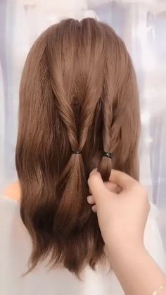 Hairstyles Tutorials Compilation 2020 New Hairstyles for long hair videos Hair Up Styles, Medium Hair Styles, Plait Styles, Medium Hair Updo, Casual Updos For Medium Hair, Easy Hairstyles For Long Hair, Office Hairstyles, Stylish Hairstyles, Hairstyle Short