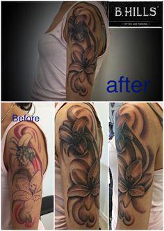#lilyflower #flower #lily #CoverUpTattoo #bhillstattoo #coverup #tattoo #ink #flower #flowertattoo #Larabhills #Ladyoktopus #tattooartist #cittadella #tattoocittadella