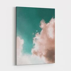 Cloud painting on canvas