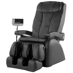 Amazing Robotic Black Leather Massage Chair With LCD... Read Our Omega  Montage Elite
