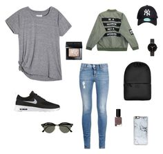 """chill day in the city"" by midhawk on Polyvore featuring STELLA McCARTNEY, NIKE, Chicnova Fashion, Rains, Bobbi Brown Cosmetics, Ray-Ban, Zero Gravity and I Love Ugly"