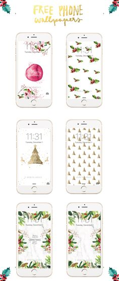 Welcome winter with these Free Christmas iPhone Wallpapers.