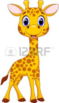 Cute giraffe cartoon photo