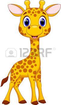 Cute giraffe cartoon photo