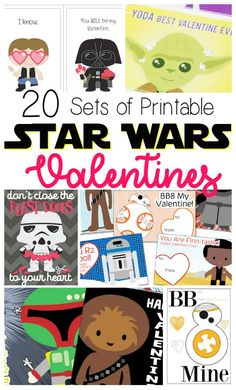 20 Free Printable Star Wars Valentine's Day Cards - Walt Express - 20 Free Printable Star Wars Valentine's Day Cards 20 Star Wars Valentine Cards That are Out of This World via Modern Mom Life - Recipes, Parenting, DIY and Crafts - Funny Valentine, Starwars Valentines Cards, Roses Valentine, Kinder Valentines, Disney Valentines, Valentines For Boys, Valentine Day Crafts, Valentine Ideas, Valentine Stuff
