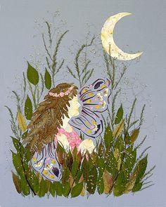 16 x 20 Fine Art Giclee Print - Eclipse - Fairy Fantasy Flower Art. $45.00, via Etsy.