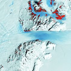 Landsat satellite images of the Earth from space look like paintings.ANTARCTICA-Byrd glacier