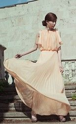Vintage Dress - Peach - Jane Zubova