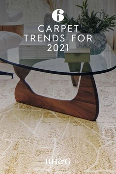 As comfort remains paramount amid a global pandemic, carpet is making a subtle comeback in key areas of the home. Providing a complement to existing flooring, carpet in updated styles and installations adds definition, durability, and comfort to living spaces. Here are the can't-miss carpet trends to watch for in the coming year. #carpet #carpettrends #homedesignideas #flooringideas #bhg Carpet Trends, Home Decor Trends, Home Improvement, Living Spaces, House Design, Flooring, Table, Furniture, Wood Flooring