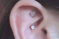 Rook Piercing Earring - Daith Jewelry -  Swarovski Arrow Curved Barbell Ear Piercing at MyBodiArt.com - Cute Ideas