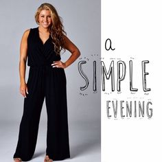 """HOST PICK 11/20GORGEOUS, CLASSIC JUMPSUIT Beautifully simple, very sexy, extremely comfortable. You can't beat that combination. Polyester knit palazzo jumpsuit, in black.                     ♦️1X: bust 42"""" waist 30-42"""" hips up to 52"""" length 63"""" inseam 33"""" Made in USA                                   PLEASE DO NOT BUY THIS LISTING, I will personalize one for you. tla2 Pants Jumpsuits & Rompers"""