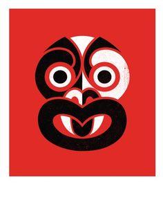 Tiki - Art Prints, Posters & Limited Edition Tiki Prints by NZ Artists Maori Patterns, Maori Designs, Tiki Art, New Zealand Art, Nz Art, Maori Art, Art Lessons For Kids, Kiwiana, Art Series