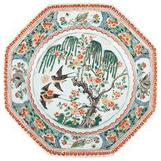 Chinese Famille Verte Enameled Porcelain Dish Kangxi Period