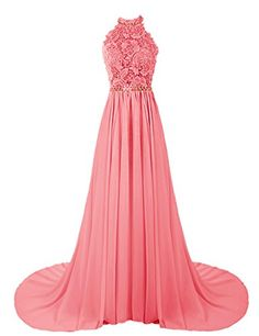 Dresstells® Women's Halter Long Prom Dresses Bridesmaid Wedding Dress Coral Size 6 Dresstells http://www.amazon.com/dp/B00UJGRT40/ref=cm_sw_r_pi_dp_eNI9vb1FFARJ8
