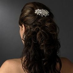 Elegant Silver Floral Design Bridal Accent Comb with Freshwater Pearls - Luxe Couture Wedding Hair Accessories for Less!