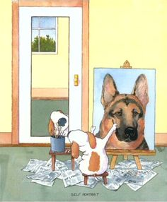 "Parody of Rockwell's ""Self-Portrait"""