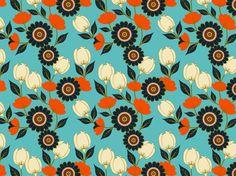 flowers art nouveau