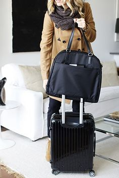 "Airport And Travel Outfits ""The OG"" - lightweight travel bag, tech friendly laptop tote, and stylish gym bag. Designed by Lo & Sons. How To Have Style, My Style, Jane Birkin, Nylons, Lightweight Travel Bag, Bags Travel, Travel Gifts, Travel Packing, Travel Ideas"