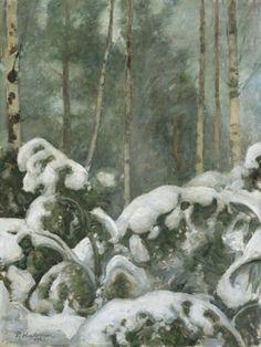 Pekka Halonen, Talvipäivä metsässä 1923