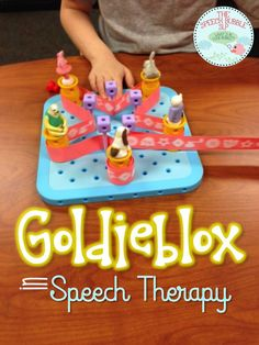 Goldieblox in the classroom! Great ideas for engaging and fun game-driven language activities for your speech therapy classoom! #SLP #SPED #specialed #games #elementary #school #group