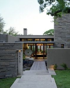 Love the geometry. Mt. Barker Residence - contemporary - entry - austin - McKinney York Architects