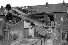 Crashed Dornier 17, London suburbs,  September.
