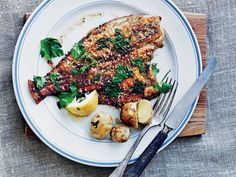 Pan-fried Plaice -- recipe (in English) from Claus Meyer's book 'The Nordic Kitchen'