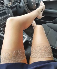 #NaughtyCC's - ❤ #goodmorning Tuesday morning nude #holdups #workmode on . #sexylegs #car #audi #hosiery #hosierylover #sexylegoncar…