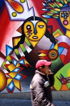 Mural in La Paz, Bolivia by flinner1976, via Flickr