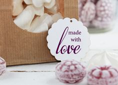 Stempel - made with love - ca. 25 x 27 mm