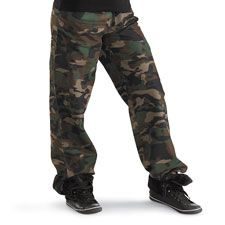 Camouflage Hip-Hop Pants; Urban Groove from DanceWear Solutions.