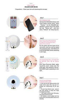 KOREA HEALSKINAnti-Aging Dermatologist facial LED Light Galvanic mini skin care