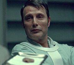 """1/2 """"before/after"""" Hannibal/Mads - adorable dork"""